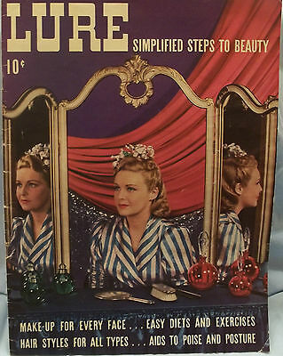 LURE Simplified Steps To Beauty  1939 Magazine