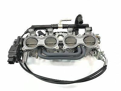 2015 Suzuki GSXR 600 750 OEM Complete Throttle Bodies Body Fuel Injectors Cable!