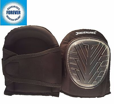 Silverline Set of 2 Pro Gel Knee Pads Caps Cups Straps Industrial Heavy Duty