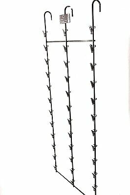 36 Clip Hanging Display Strip/Rack for Chips, Snacks, Candy, Hats or Storage - &