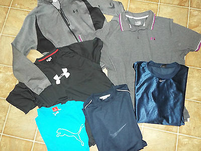 7 pieces Men's size 2XL XXL UNDER ARMOUR NIKE PUMA Athletic lot