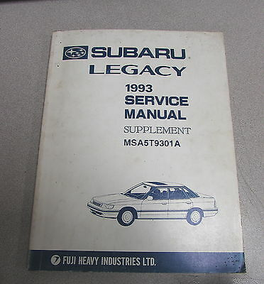 1998 subaru legacy service shop manual volume 8 msa5t9801a 53 97 rh picclick com 1993 subaru legacy service manual 1993 subaru legacy service manual free download