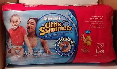 Huggies Little Swimmers Disposable Swimpants Size LG 32+ lb 10ct