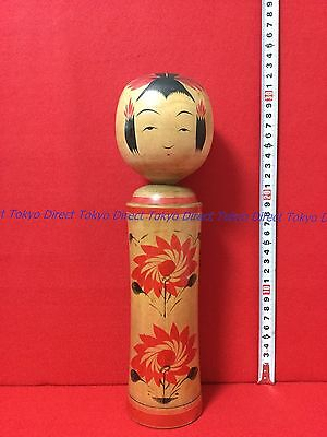 Japanese doll Vintage Hand painting KOKESHI Hideo Onuma Japan with tracking Y1