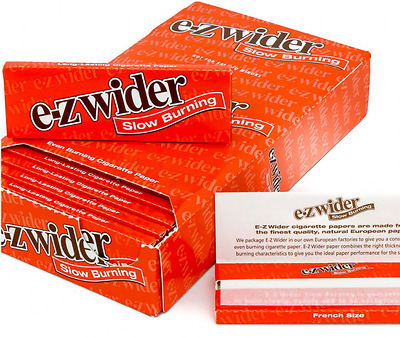 5x Packs ( E-Z EZ Slow Burning Orange 1 1/4 1.25 ) Rolling Paper Papers