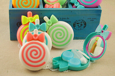 Lollipop Mini Contact Lens Case Lovely High Quality Travel Box