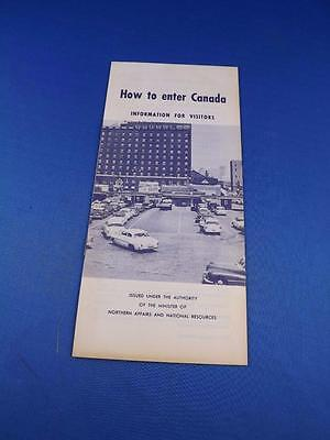 How To Enter Canada Brochure Information For Visitors 1958 Customs Dogs & Pets
