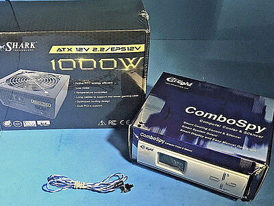 Intel i9/i7 Gaming Power Supply 1000W Active PFC 2x PCIE + Fan Speed Controller