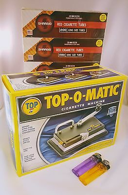 TOP-O-Matic Cigarette Maker & tubes and lighters