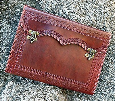 QualityArt Handmade Leather Journal Leather Diary Sketchbook 2 Lock Travel Blank