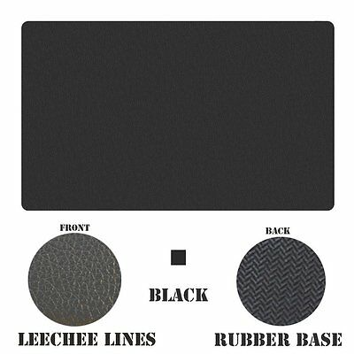 Seekermaker Synthetic 24*14 Inch Big Leather Mouse pads Desk Mat litchi black