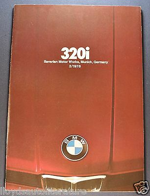 1978 BMW 320i 30 page Catalog Sales Brochure Excellent Original 78