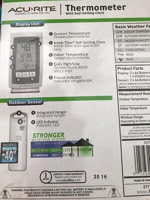 Digital Day-Date Thermometer *Indoor *Outdoor *Wireless Station