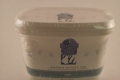 Scentsy Authentic Laundry washer Whiffs tub Luna Scent 48oz