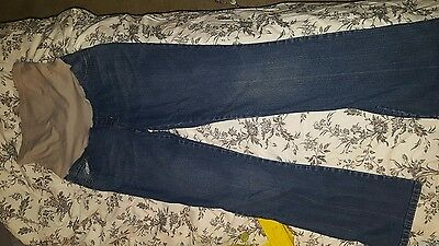 Motherhood Maternity Stretch Boot Cut Blue Jeans Size small, full panel