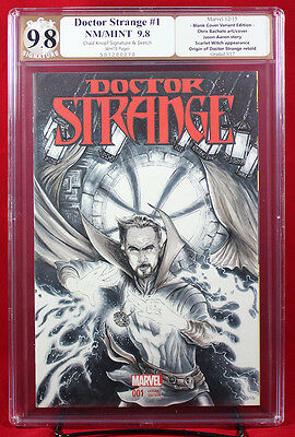 Doctor Strange #1 (Marvel) PGX (not CGC) 9.8 NM/MT Sketch Cover by CHAD KNOPF