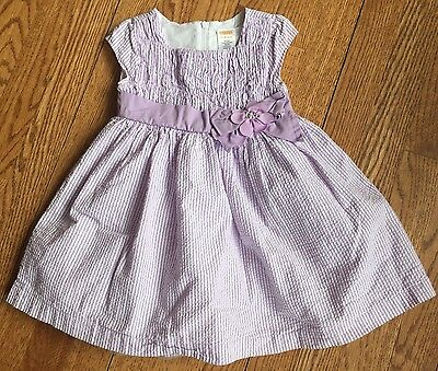 Gymboree Baby Girl Purple Seersucker Spring Dress Size 12-18 Months