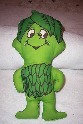 Vintage stuffed little sprout pillow jolly green giant 13""