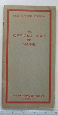 Maine - National Survey Co.  Official Map - 1918