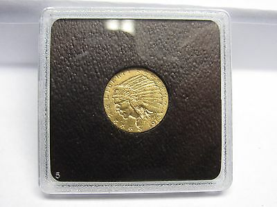 1915 US Indian 2 1/2 Dollar Quarter Eagle Gold Coin Super definition, very nice
