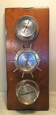 Vintage Springfield Co., Barometer/Thermometer/Humidity Instrument