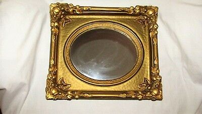 Vtg Antique 12X14 Florentine Gold Gilt Plaster Mirror Frame Hollywood Regency