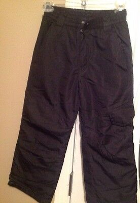 Black Faded Glory Youth Snow Winter Ski Pants Size 8