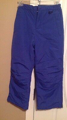 Lands End Youth Snow Ski Winter Pants Size 8 Blue