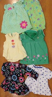 Baby Girl Summer  CLOTHES LOT Outfit Sets Size 6 Months Carter's Dress Romper