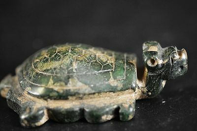Unique Chinese old jade carved dragon turtle statue JP215