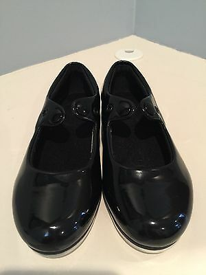 Leo Black Tap Dance Shoes, Size Youth 10
