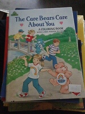 Vintage NEW {unused} The Care Bears Coloring & Activity Book {Cartoon Character}