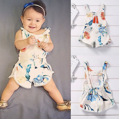 CUTE Newborn Baby Girl Kids Bodysuit Romper Jumpsuit Cotton Sunsuit Outfits