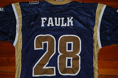 detailing 04303 292dc st. louis rams 28 marshall faulk white throwback jersey