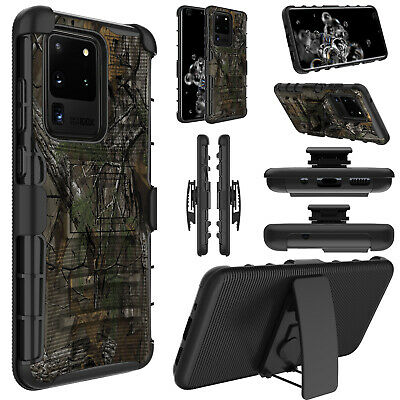 For Samsung Galaxy S8/S9 Plus Belt Clip Camo Case Holster Shockproof Phone Cover