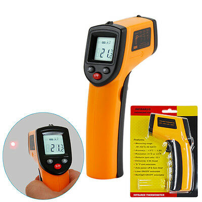 Industrial Digital Thermometer Gun Non-contact Infrared IR Surface Temperature