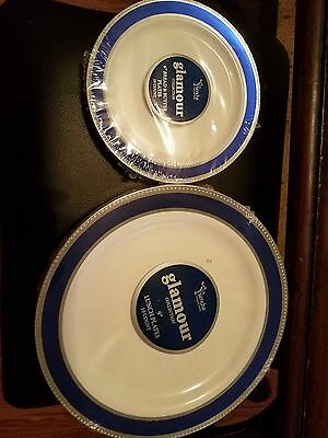 120 glamour  lunch plates  and 120 bread plates