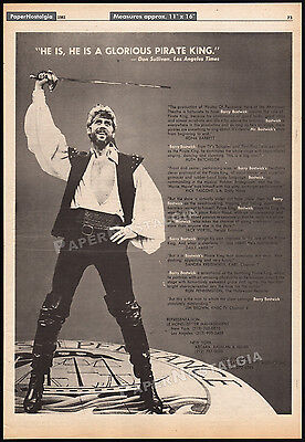 BARRY BOSTWICK / Pirates of Penzance__Orig. 1981 Trade print AD promo / poster