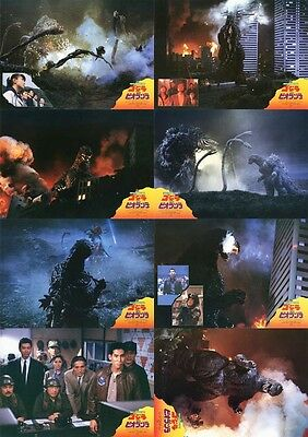 GODZILLA VS BIOLLANTE (1989) Japanese Lobby Cards Set of 8 (8 x 10 Inches)