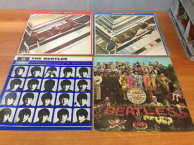 Vintage 1960's Lot of 4 The Beatles Albums - LP's Record VGC