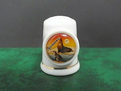 Ceramic Thimble. Narooma N.S.W. Collectible.