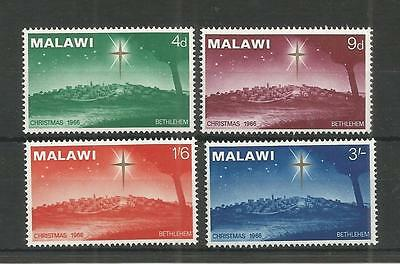 Malawi 1966 Christmas Sg,273-276 U/mm Nh Lot 3028A