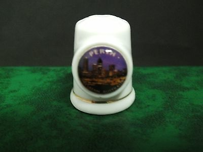 * Ceramic Thimble. Perth W.A.  Collectible.