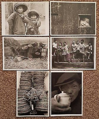 China Postcards Set of 6 Printed Photos by Chinese Photographer Wang Geng-Feng