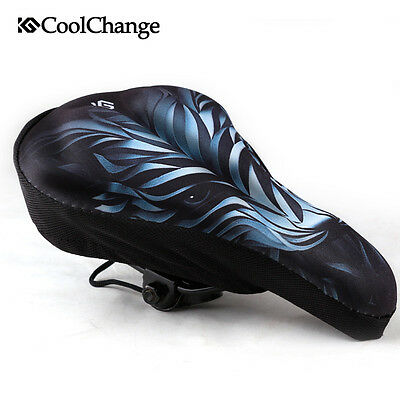 CoolChange Bike Bicycle Extra Comfort Saddle Seat Pad Cushion Cycling Cover Case