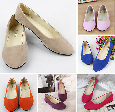 Women's Shoes Ballet Flats Plus Size 43 Casual Low Heel Sapatos Womens Loafers