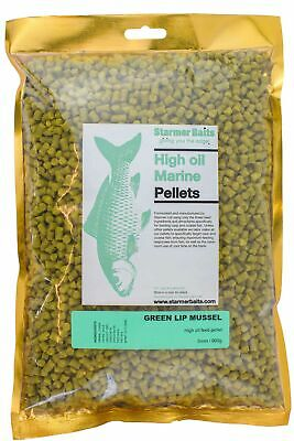 Green lip mussel pellets for carp & coarse fishing 5mm