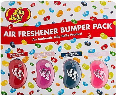 12 Assorted 3D Jelly Belly Scents Air Freshener Freshner Car Home Office