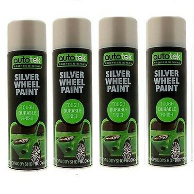 Autotek AT00SLW500 Silver Wheel Paint 4 Cans 500ML
