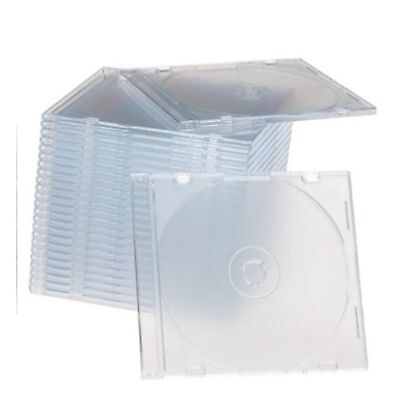 200 Slim 5.2mm jewel CD Cases with CLEAR Tray single Disc case  APC